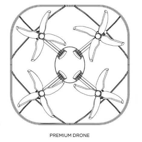 東京2020オリンピックの開会式で使用されたドローン「Intel PREMIUM DRONE」